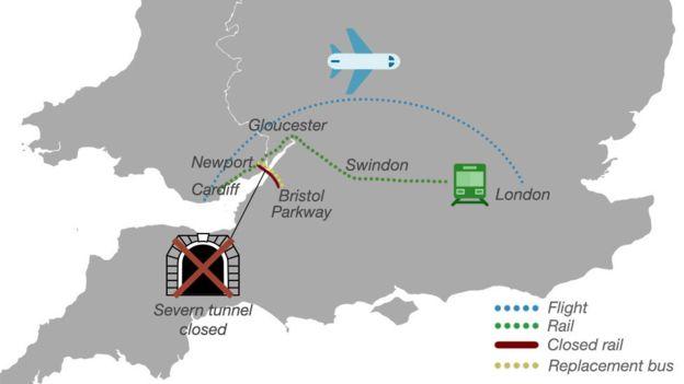 volo Londra Cardiff