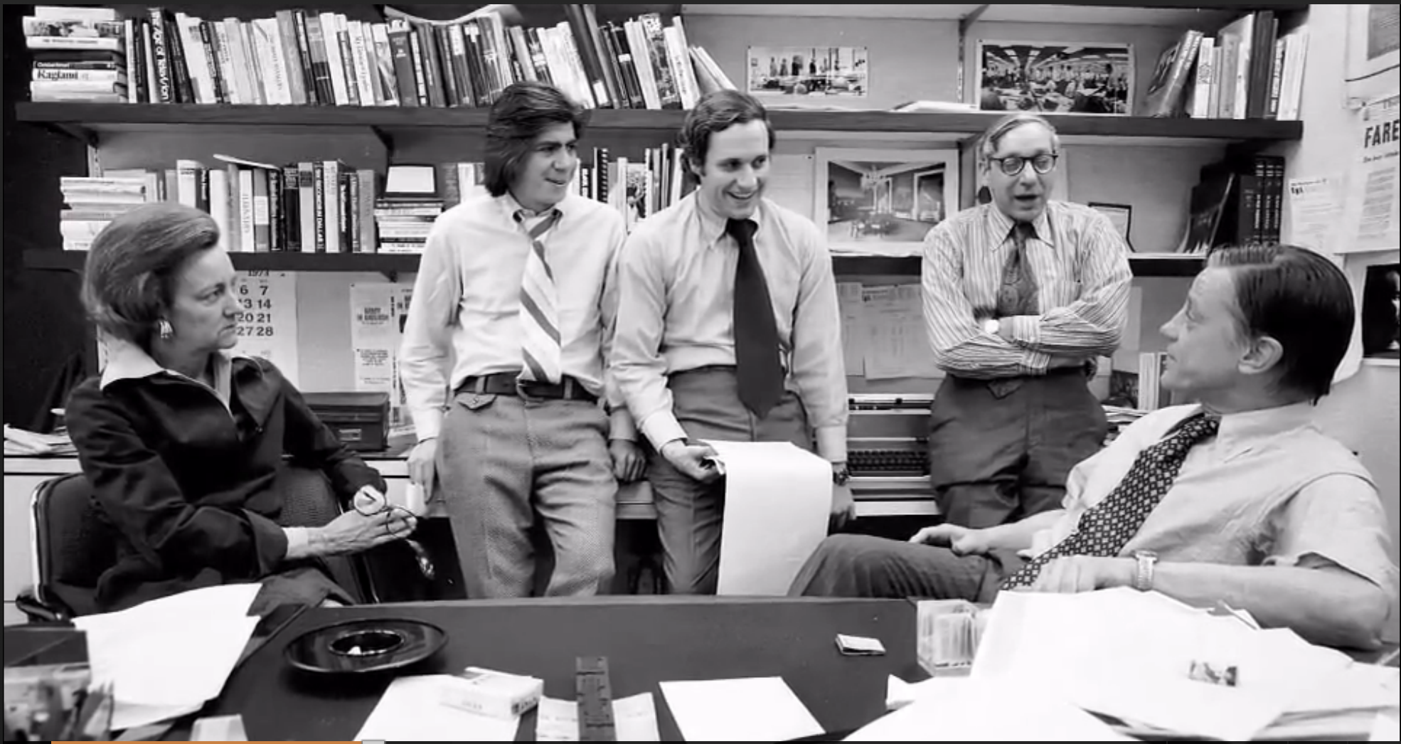 Redazione del Washington Post durante lo scandalo Watergate