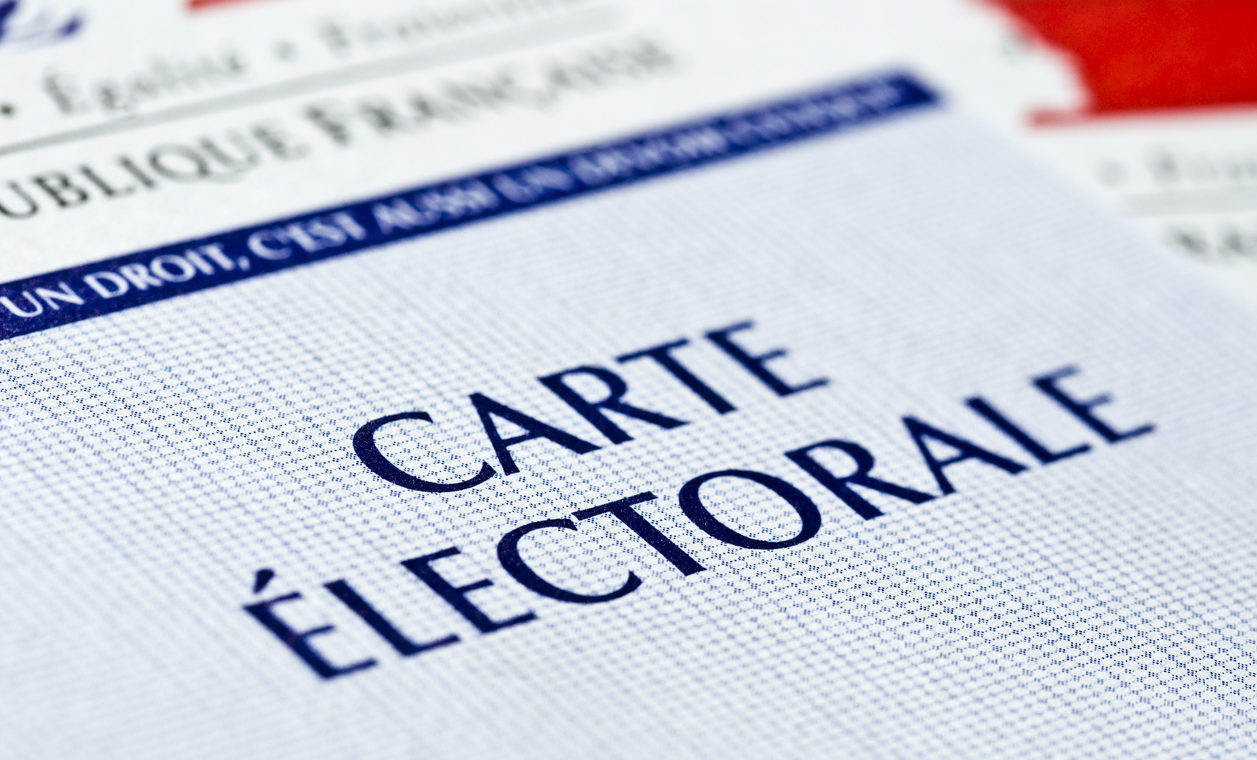 French electoral voting card