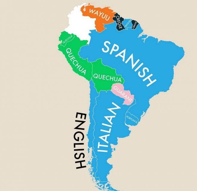 La seconda lingua più parlata in Argentina è l'italiano.