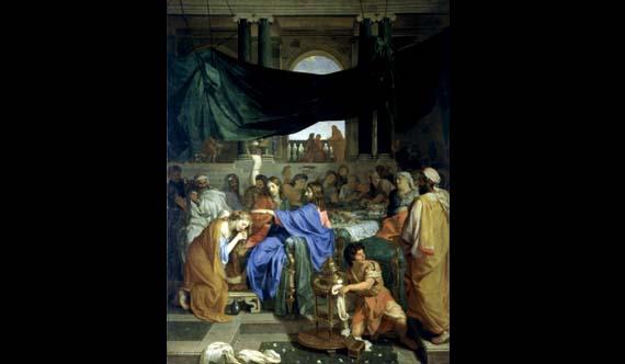 Il convito in casa del fariseo con la Maddalena ai piedi di Gesù