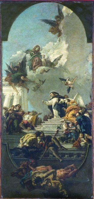San Domenico che istituisce il Rosario di Giambattista Tiepolo