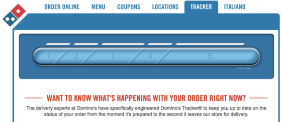 domino's pizza track order